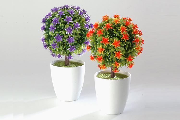 arbolito con maceta redondo con flores productos jovifel